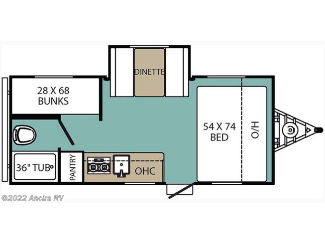 2017 Coachmen Clipper 17BHS floorplan image