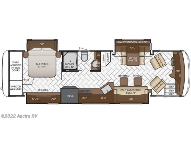 2019 Newmar New Aire 3345 floorplan image