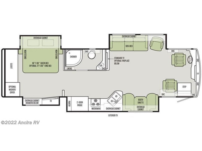 2019 Tiffin Allegro Red 33 AA floorplan image