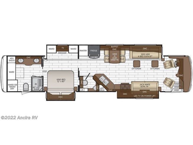 Floorplan of 2019 Newmar Dutch Star 4328