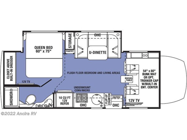 Floorplan of 2020 Forest River Forester 2401B MBS