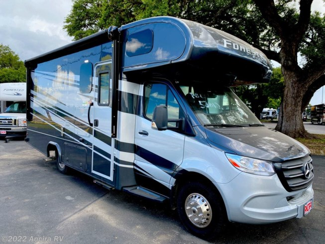 2020 Forest River Forester 2401B MBS - New Class C For Sale by Ancira RV in Boerne, Texas features Air Conditioning, Auxiliary Battery, Awning, Backup Camera, Backup Monitor, CO Detector, Convection Microwave, Exterior Speakers, External Shower, Generator, Hitch, Ladder, Leveling Jacks, LP Detector, Medicine Cabinet, Oven, Power Entrance Step, Power Roof Vent, Queen Bed, Refrigerator, Roof Vents, Shower, Skylight, Slideout, Slide-out Awning, Smoke Detector, Solid Surface Countertops, Stabilizer Jacks, Stainless Appliances, Stove Top Burner, Surround Sound System, Toilet, TV, U-Shaped Dinette, Water Heater