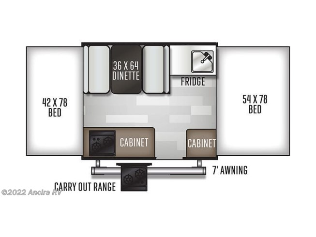 Floorplan of 2021 Forest River Flagstaff 176LTD