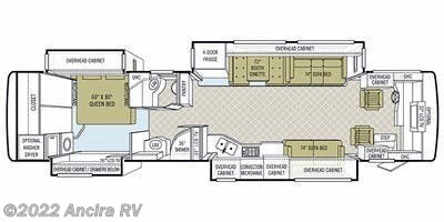 Floorplan of 2010 Tiffin Phaeton 40 QTH