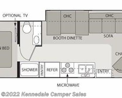 2009 Four Winds International Siesta 31BH 32' floorplan image