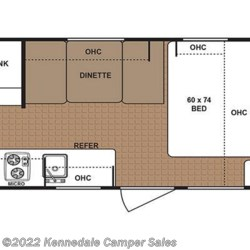 "2018 Dutchmen Aspen Trail 1700BH 21'5"" floorplan image"