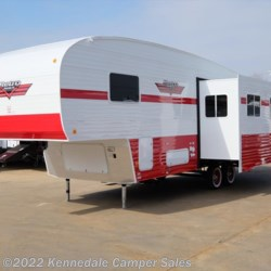 "Kennedale Camper Sales 2017 White Water Retro 526RK 29'3"" **Rear Kitchen**  Fifth Wheel by Riverside RV 