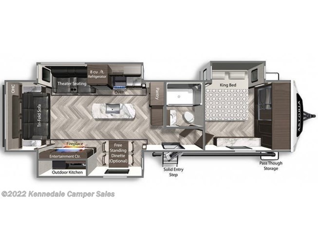 Floorplan of 2021 Dutchmen Astoria 3373RL