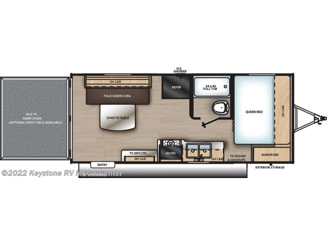 Floorplan of 2020 Coachmen Catalina Trail Blazer 19TH