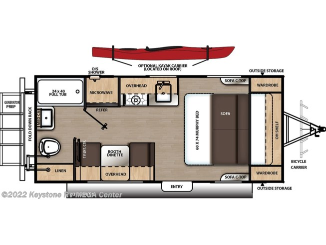 Floorplan of 2020 Coachmen Catalina Expedition 192RB