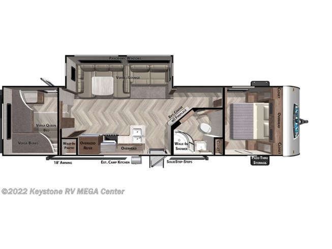 Floorplan of 2021 Forest River Salem 29VBUD