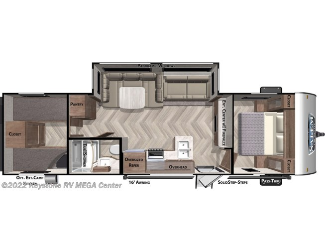 Floorplan of 2021 Forest River Salem Cruise Lite 282QBXL