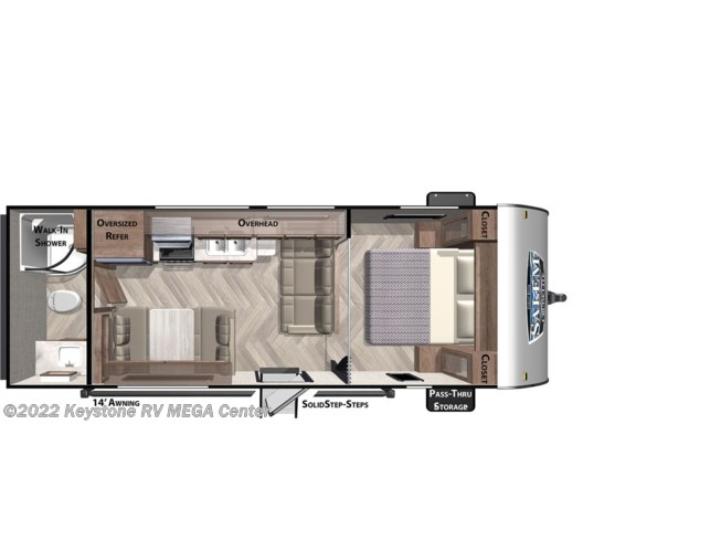 Floorplan of 2021 Forest River Salem Cruise Lite 241QBXL