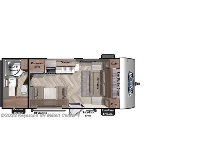 Floorplan of 2021 Forest River Salem Cruise Lite 171RBXL