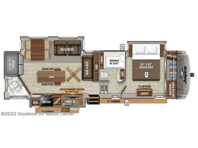 Floorplan of 2021 Jayco Eagle 319MLOK