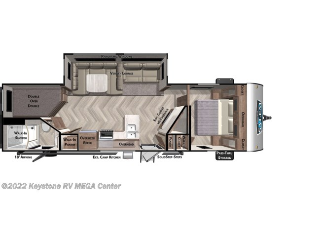 Floorplan of 2021 Forest River Salem 26DBUD