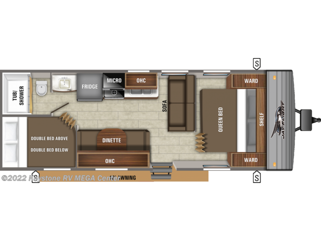Floorplan of 2021 Jayco Jay Flight SLX 264BH