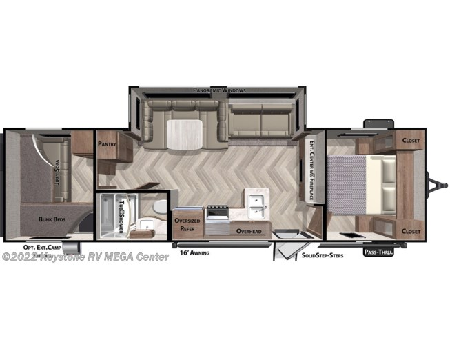 Floorplan of 2021 Forest River Salem Cruise Lite 273QBXL