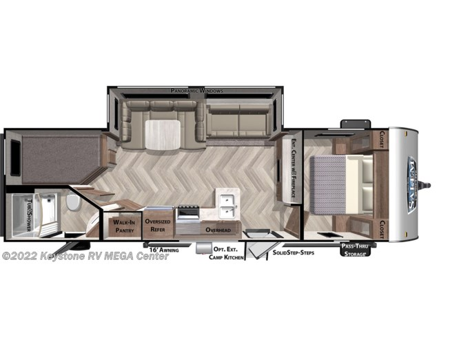 Floorplan of 2021 Forest River Salem Cruise Lite 263BHXL