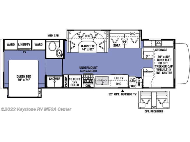 Floorplan of 2021 Forest River Sunseeker 3010DS