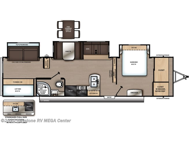 Floorplan of 2021 Coachmen Catalina Legacy Edition 343BHTSLE