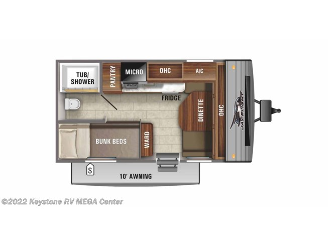 Floorplan of 2021 Jayco Jay Flight SLX 154BH