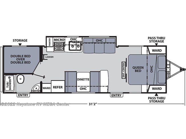 Floorplan of 2021 Coachmen Apex 288BHS