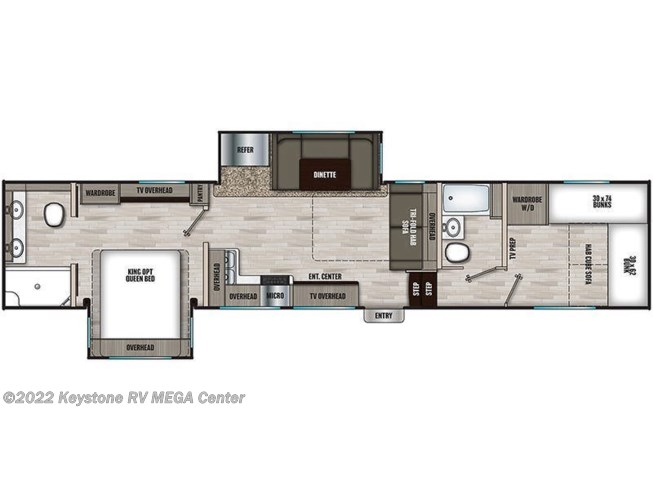 Floorplan of 2021 Coachmen Chaparral 355FBX