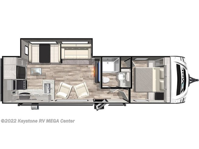 Floorplan of 2021 Forest River Vibe 26RK
