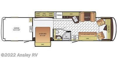 2016 Newmar Canyon Star 3921 floorplan image