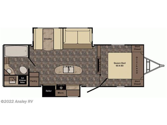 2016 CrossRoads Sunset Trail Grand Reserve ST26BB floorplan image