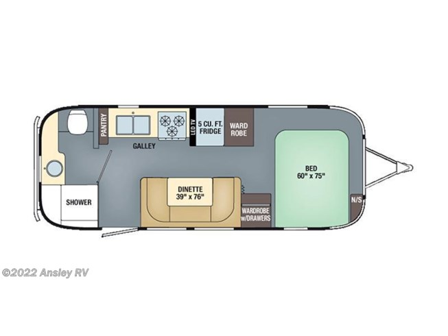 2016 Airstream International Serenity 23FB floorplan image