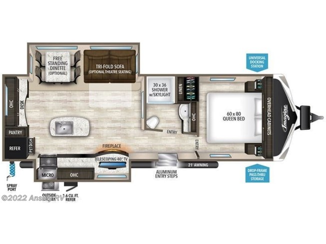 2018 Grand Design Imagine 2670MK floorplan image