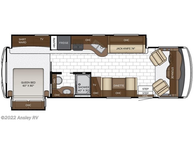 2019 Newmar Bay Star Sport 3014 floorplan image