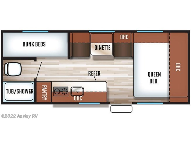 2019 Forest River Cherokee Wolf Pup 16BHS floorplan image
