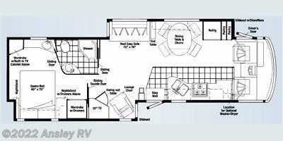 2008 Winnebago Adventurer 38T floorplan image
