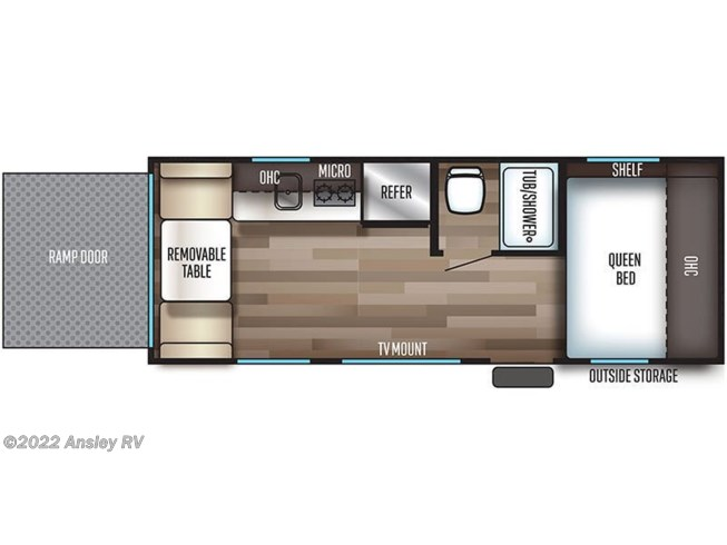 Floorplan of 2020 Forest River Cherokee Wolf Pup 18RJB