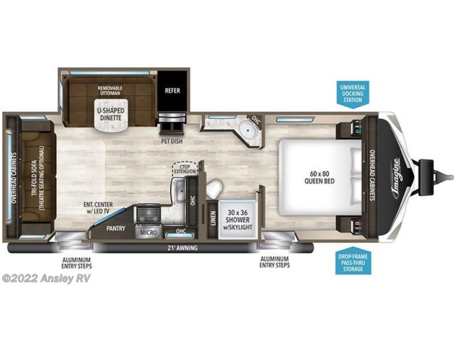 2019 Grand Design Imagine 2500RL floorplan image