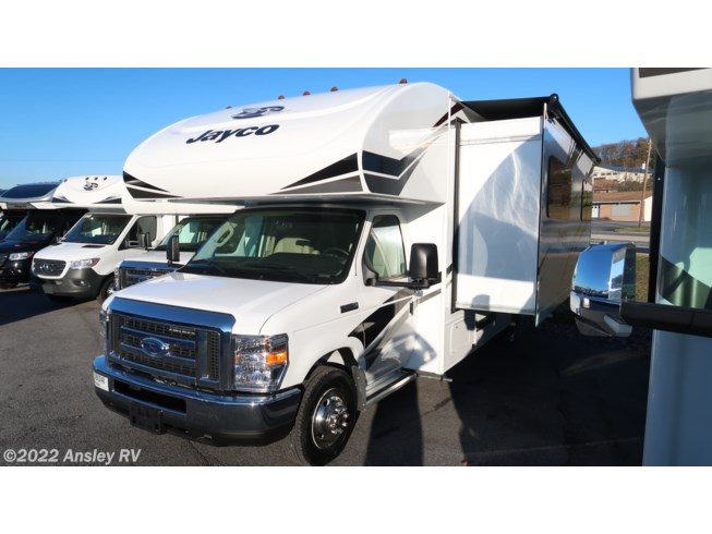 2020 Jayco Redhawk 24B - New Class C For Sale by Ansley RV in Duncansville, Pennsylvania features Air Conditioning, AM/FM/CD, Auxiliary Battery, Awning, Backup Monitor, Batteries, Bunk Beds, CD Player, CO Detector, Converter, Exterior Speakers, External Shower, Furnace, Generator, Hitch, Ladder, LP Detector, Medicine Cabinet, Microwave, Non-Smoking Unit, Oven, Power Awning, Power Entrance Step, Queen Bed, Refrigerator, Roof Vents, Self Contained, Shower, Skylight, Slideout, Slide-out Awning, Smoke Detector, Stove, Stove Top Burner, Toilet, TV, U-Shaped Dinette, Water Heater