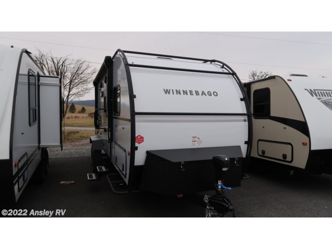 2021 Winnebago Hike H210RB - New Travel Trailer For Sale by Ansley RV in Duncansville, Pennsylvania features Air Conditioning, Auxiliary Battery, Awning, CD Player, CO Detector, DVD Player, Exterior Speakers, Leveling Jacks, LP Detector, Medicine Cabinet, Microwave, Outside Kitchen, Oven, Power Roof Vent, Queen Bed, Refrigerator, Roof Vents, Shower, Slideout, Smoke Detector, Solar Panels, Stove Top Burner, Toilet, TV, U-Shaped Dinette, Water Heater
