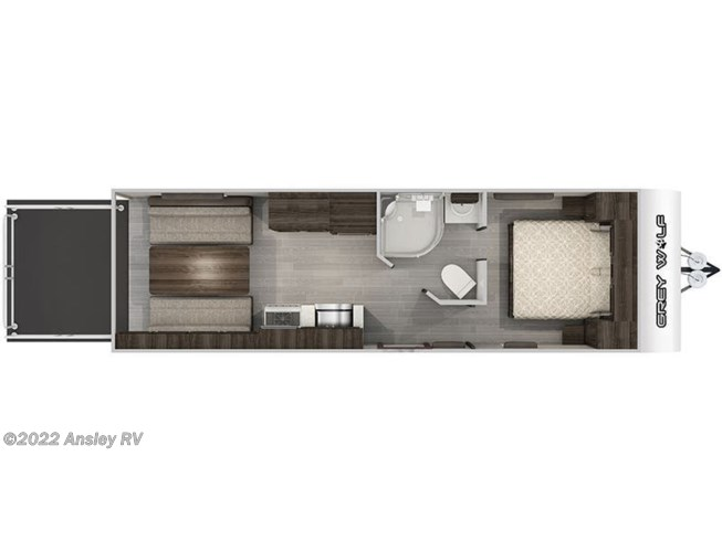 Floorplan of 2021 Forest River Cherokee Grey Wolf 22RR