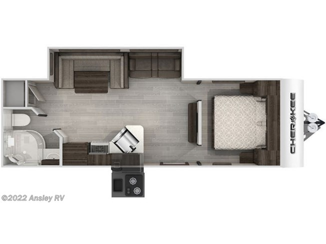 Floorplan of 2021 Forest River Cherokee 234DC