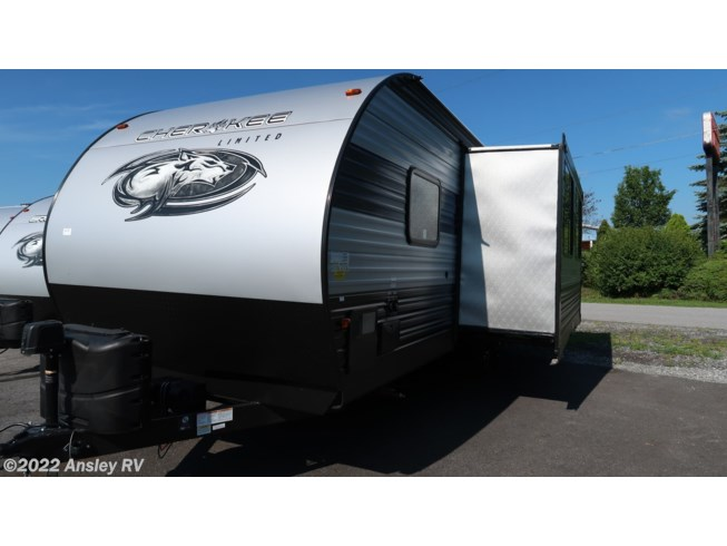 2021 Forest River Cherokee 234DC - New Travel Trailer For Sale by Ansley RV in Duncansville, Pennsylvania features Air Conditioning, AM/FM/CD, Auxiliary Battery, Awning, Batteries, CO Detector, Converter, Exterior Speakers, Furnace, Leveling Jacks, LP Detector, Medicine Cabinet, Microwave, Outside Kitchen, Power Awning, Queen Bed, Refrigerator, Roof Vents, Shower, Skylight, Slideout, Smoke Detector, Stove, Stove Top Burner, Toilet, U-Shaped Dinette, Water Heater