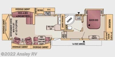Floorplan of 2009 Jayco Designer 35 RLTS
