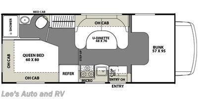 2013 Coachmen Freelander 21QB floorplan image
