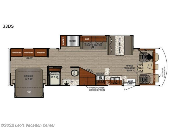 2020 Forest River FR3 33DS - New Class A For Sale by Leo's Vacation Center in Gambrills, Maryland features Slideout