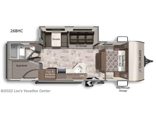 2021 Dutchmen Colorado 26BHC - New Travel Trailer For Sale by Leo's Vacation Center in Gambrills, Maryland features Slideout