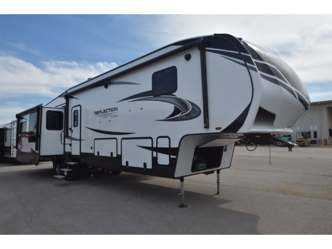 2021 Grand Design Reflection 367BHS - New Fifth Wheel For Sale by McClain's RV Oklahoma City in Oklahoma City, Oklahoma features 50 Amp Service, Air Conditioning, Alloy Wheels, Aluminum Entrance Steps, AM/FM/CD, Automatic Leveling Jacks, Auxiliary Battery, Black Tank Flush, Bluetooth Stereo, Cable Prepped, CO Detector, Convection Microwave, Converter, Detachable Power Cord, Enclosed Underbelly, Enclosed Water Tank, Exterior Refrigerator, Exterior Speakers, External Shower, Fire Extinguisher, Fireplace, Fold and Tumble Sofa, Furnace, Glass Shower Door, Heated Underbelly, Island Kitchen, Kitchen Sink, Ladder, Leather Furniture, LED HDTV, LED Lights, Leveling Jacks, Living Quarters, Load Lights, LP Detector, Medicine Cabinet, Oven, Overhead Cabinetry, Pantry, Pass Thru Storage, Power Awning, Power Roof Vent, Power Seats, Propane, Queen Bed, Recliner(s), Refrigerator, Satellite Prepped, Screen Door, Shower, Skylight, Slam Latch Baggage Doors, Slideout, Smoke Detector, Sofa Bed, Solar Prep, Solid Surface Countertops, Spare Tire Kit, Stove Cover, Stove Top Burner, Theater Seating, Toilet, TV, TV Antenna, Washer/Dryer Prep, Water Heater