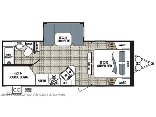 2018 Dutchmen Kodiak 243BHSL floorplan image