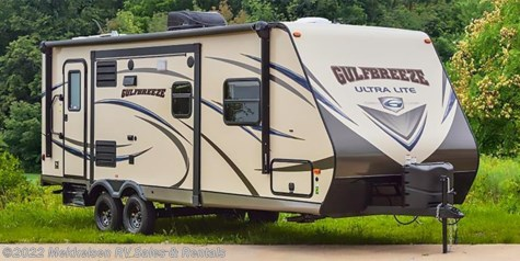 Stock Image for 2018 Gulf Stream Gulf Breeze Ultra Lite 18RBD Special Value Trailer (options and colors may vary)